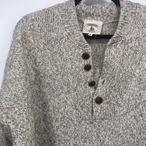 Vintage Lakewoods bay men's knit sweater v-neck size xl